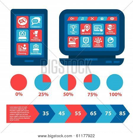 flat web and infographics elements