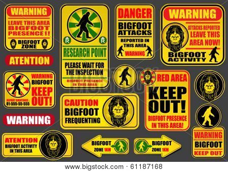 Bigfoot Signs Collection
