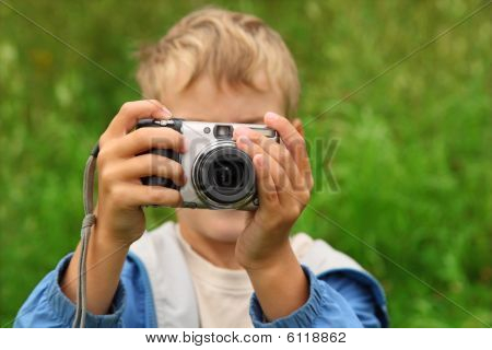 Boy Photographs Outdoor