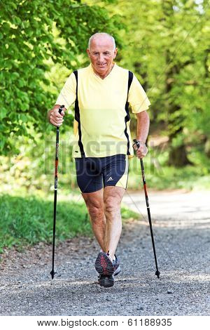 a senior fitness training for nordic walken