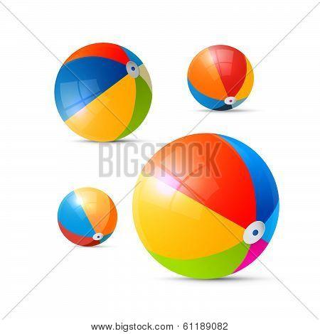 Colorful Vector Beach Balls