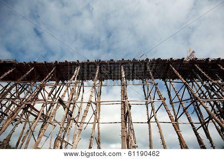Wooden Bridge At Sangkhaburi