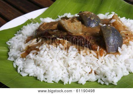 Brinjal Sambar - A Lentil Soup Made Of Brinjal From Tamilnadu