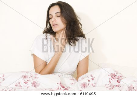 Stomachache woman