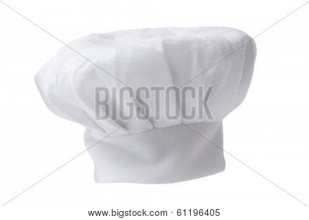 White chef's hat with white background