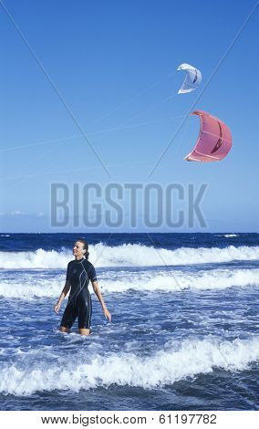 windsurfer, Tenerife, Canary Islands, Spain