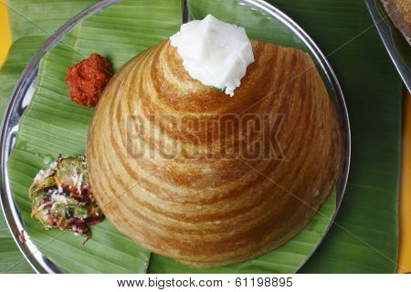 Ghee Roast Dosa - a pancake from South India
