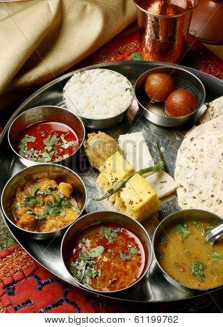 Gujarati Thali from India