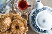 Fresh Turkish Sesame Bagels For Teatime poster