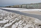 image of winter palace  - Winter Palace and Neva River in early spring - JPG