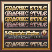 Set Of Various Brown Glossy Graphic Styles For Design