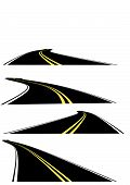 image of long winding road  - Sets of Vector perspective roads - JPG