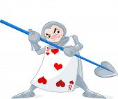 image of alice wonderland  - Card Soldier from Wonderland story - JPG