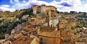 Picturesque medieval village Sorano, Grosseto, Tuscany, Italy