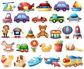 foto of chopper  - Illustration of the collection of toys on a white background - JPG