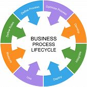 Business Process Lifecycle Word Circle Concept
