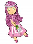 image of virgo  - Cartoon style illustration of zodiac symbol - JPG