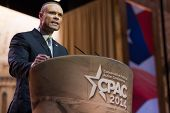 NATIONAL HARBOR, MD - MARCH 6, 2014: Congressional candidate Dan Bongino speaks at the Conservative