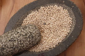 picture of urad  - Top View of Urad Dal - A lentil commonly used in Indian recipes