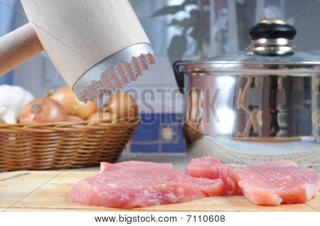 Preparación de carne de puerco