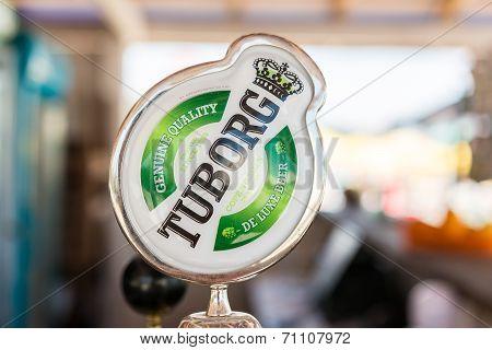 Tuborg Sign On Beer Dispenser