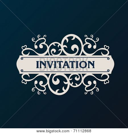 Label vector framework. Vintage banner background