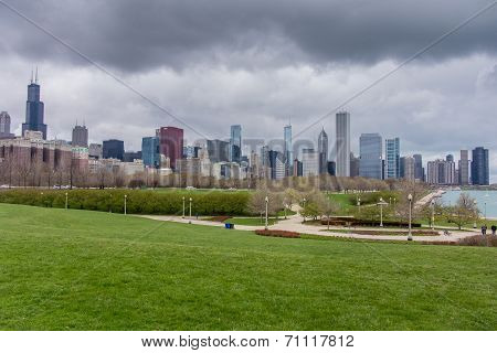 Chicago Skyline From South