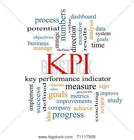 Kpi Word Cloud Concept