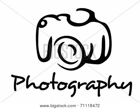 Camera and photography emblem