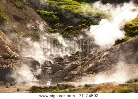 Geysers On A Volcano
