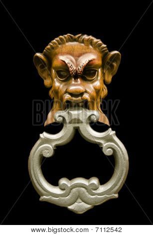 Door knocker isolated