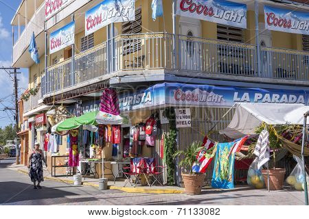 Tourist Shops In Boqueron, Puerto Rico