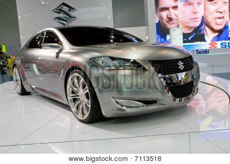 Moscow, Russia - August 27: Metallic Car Suzuki At Moscow International Exhibition Interauto On Augu