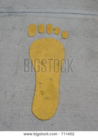 Big Yellow Foot On The Floor