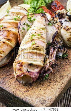 grilled calamaries
