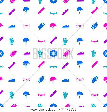 Vector background for accessories for longboarders
