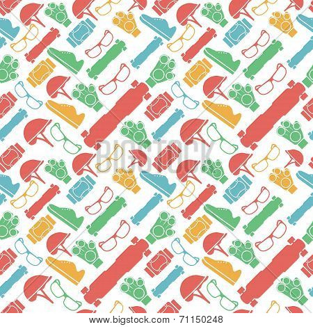 Colored vector background for accessories for longboarders