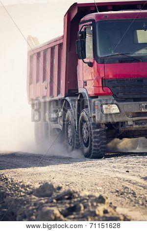 Trucks Operating In A Coal Mine