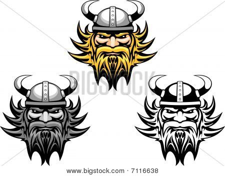 Ancient angry viking warrior