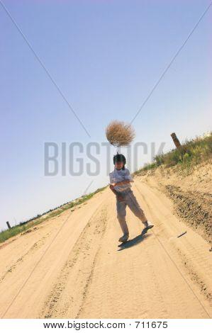 Boy With Tumble-weed