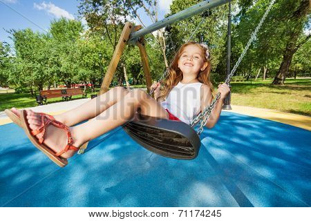 Swinging is so fun