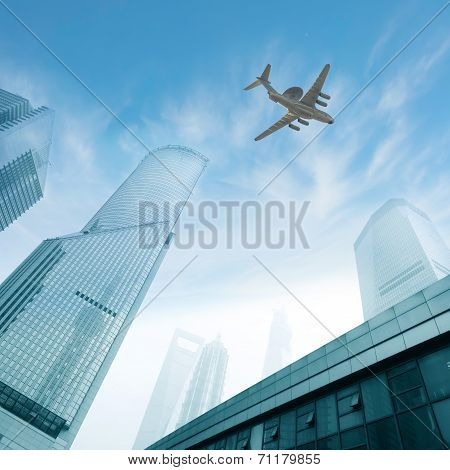 The Plane Flew Over Modern Architecture