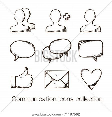 Communication icons collection.
