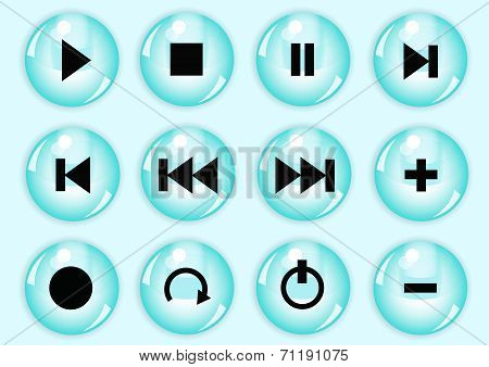 Glossy Button Set