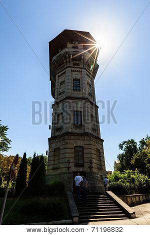 The Chisinau Water Tower In Moldova. An Architectural Monument Of Chi?in?u, Moldova, Built At The En