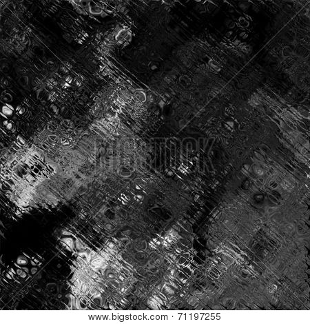 art abstract glass textured monochrome background in white, dark grey and black colors