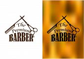 stock photo of barber  - Retro barber shop icon - JPG