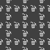 stock photo of dust-bin  - Trash bin web icon - JPG