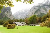 picture of bavarian alps  - autumn in beautiful Bavarian Alps of Europe - JPG