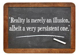 image of einstein  - reality is merely an illusion - JPG